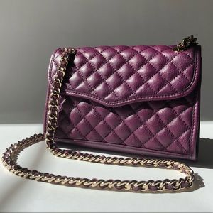 Rebecca Minkoff Quilted Mini Affair Plum